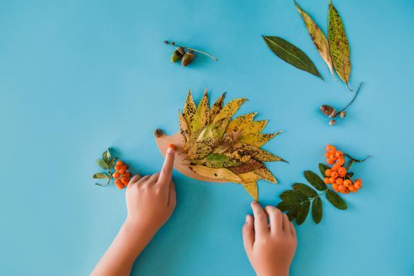 Juegos en la naturaleza para niños - Dibujamos con elementos naturales