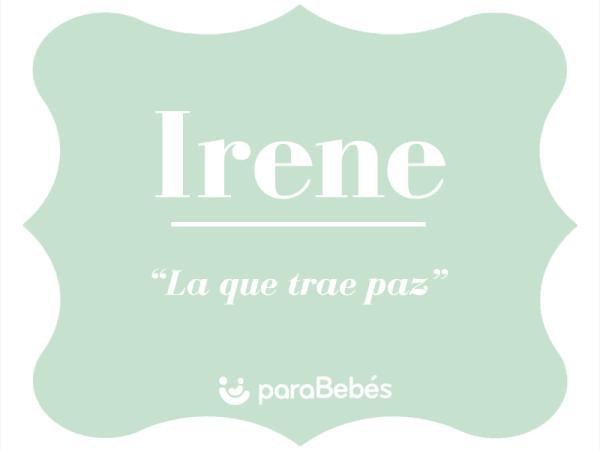 Significado del nombre Irene
