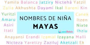 Nombres de niña mayas