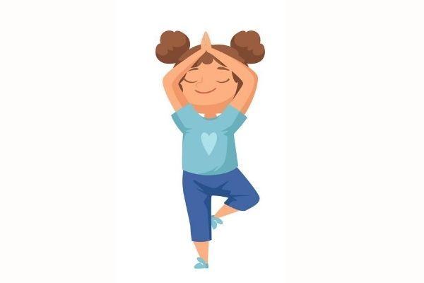 Posturas de yoga para niños - El árbol