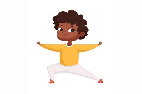 Posturas de yoga para niños - El arquero