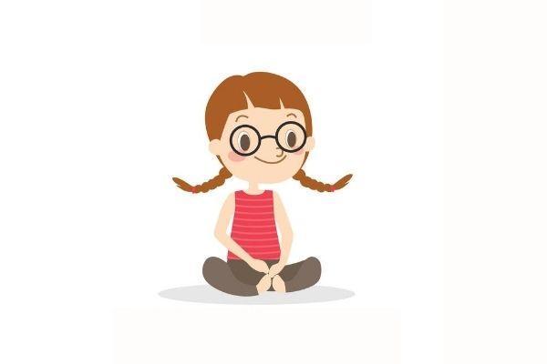 Posturas de yoga para niños - El león