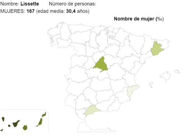 Significado del nombre Lissette - Popularidad del nombre Lissette