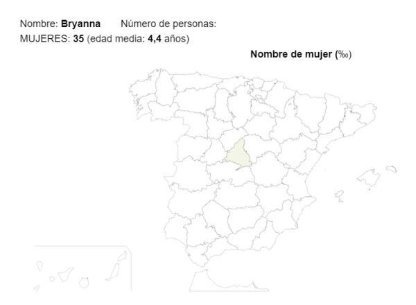 Significado del nombre Bryanna - Popularidad del nombre Bryanna