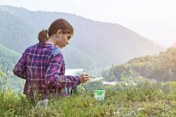Juegos al aire libre para niños - ¡A pintar!