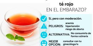 ¿Se puede tomar té rojo en el embarazo?