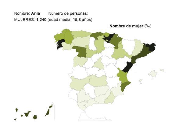 Significado del nombre Ania - Popularidad del nombre Ania