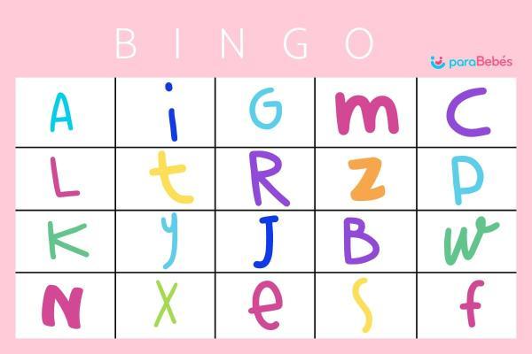 Juegos para aprender las letras - Bingo de letras