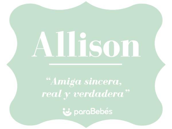 Significado del nombre Allison