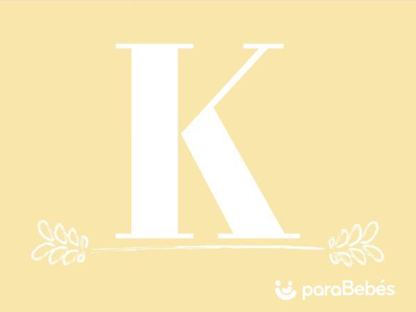 Nombres de niño con la letra K
