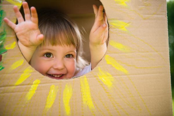 Juguetes Montessori para bebés - Caja de permanencia del objeto