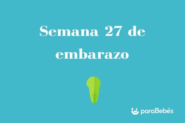 Semana 27 de embarazo