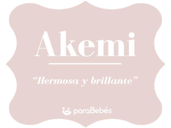 Significado del nombre Akemi