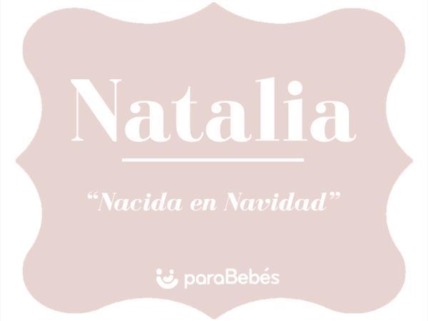 Significado del nombre Natalia