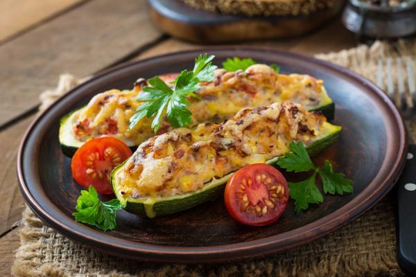 Cenas saludables para niños - Calabacín relleno