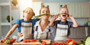 Cenas saludables para niños
