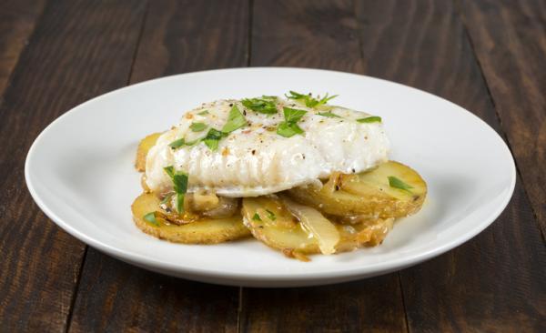 Cenas saludables para niños - Pescado al horno con patatas