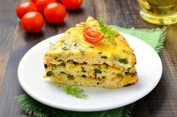 Cenas saludables para niños - Tortilla de calabacín