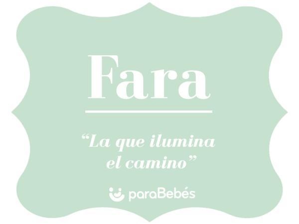 Significado del nombre Fara