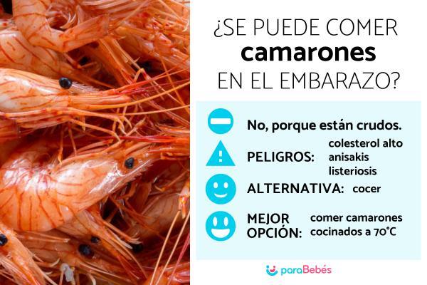 ¿Se puede comer camarones en el embarazo?