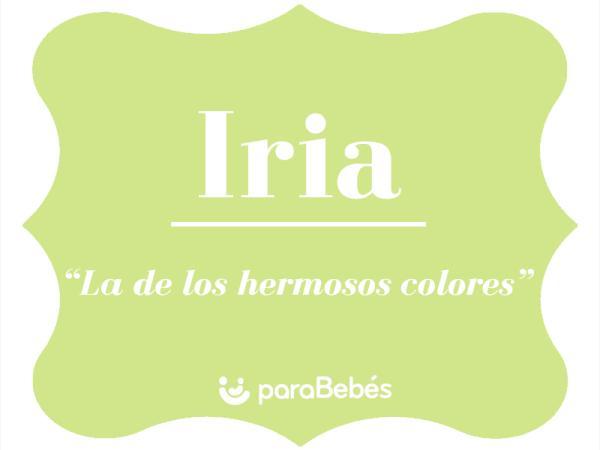 Significado del nombre Iria