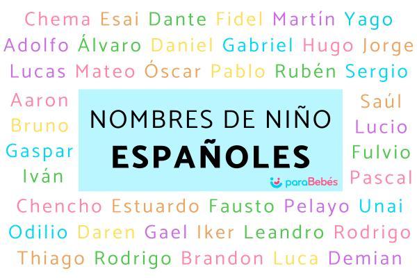 Nombres de niño españoles