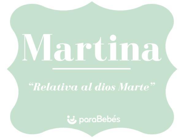 Significado del nombre Martina