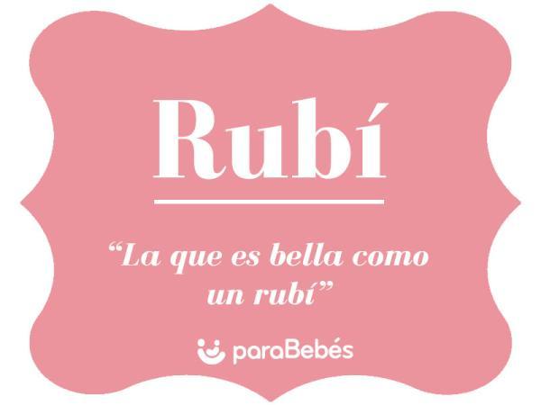 Significado del nombre Rubí